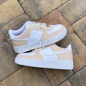 Cream Nike Custom Air Force 1